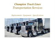 Truck Transportation services | Champion Truck Lines