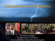 Complication of Eclampsia by  Dr. Shrinivas Gadappa