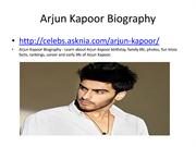 Arjun Kapoor Biography | Biography Of Arjun Kapoor
