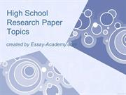 high school research paper outline