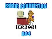 ERROR CORRECTION B04