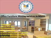 Office Furniture Moving Services in Miami