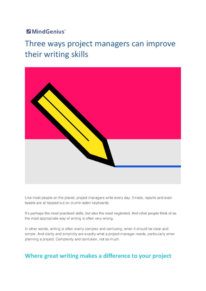 Business Writing Skills: Ten Ways to Improve Yours