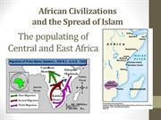 Islamic trading cities in East Africa