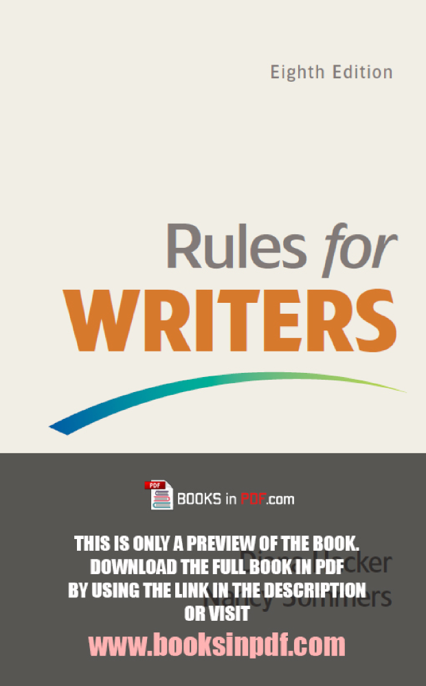 Rules for writers 8th edition pdf free download by diana hacker rules for writers 8th edition pdf free download by diana hacker fandeluxe Choice Image