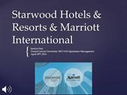 Starwood Hotels & Resorts & Marriott International