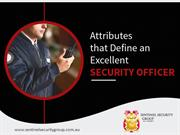 Qualities of an Ideal Security Guard