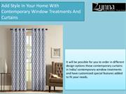Contemporary Window Treatments | Window Curtain Accessories