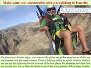 Make your tour memorable with paragliding in Tenerife
