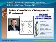 Spinal Chiropractic Treatment Charlotte NC|Pain relief Charlotte NC