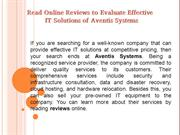 Aventis Systems reviews