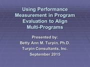 Multiprogram Alignment with Performance Measurement