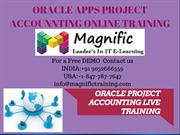 Live Oracle  R12 Project Accounting Online Training In UK