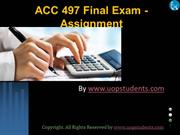 ACC 497 Entire Course and Final Exam