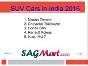 Know About The SUV Cars in India 2016 - PPT