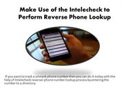 Reverse Phone Number Lookup Process With Intelechek
