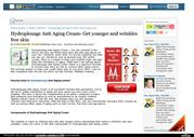 Hydroplenage Anti Aging Cream- Get 100% best result!