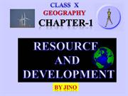 RESOURCE AND DEVELOPMENT