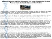 La Verne California Law Firm Announcing Free Legal Consultations