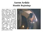 Aaron Ardaiz Humble Beginnings
