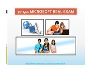 70-411 Questions Based on Real Exams
