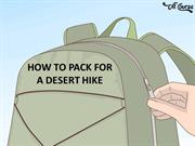 How to Pack For a Desert Hike
