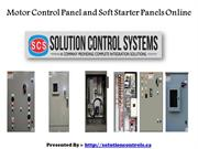 Advanced Motor Control Panel and Soft Starter Panels Online