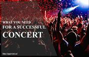 What you need for a successful concert