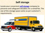 Self storage, Storage units, Cheap storage units