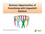 Business Opportunities of Franchising with LinguaSoft EduTech