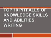 Top 10 Pitfalls of Knowledge Skills and Abilities Writing
