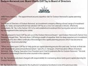 Dodson-Norwood.com Board Elects Cliff Tay to Board of Directors