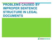 Problems Caused by Improper Sentence Structure in Legal Documents