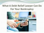 What A Debt Relief Lawyer Can Do For Your Bankruptcy