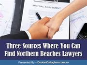 Three Sources Where You Can Find Northern Beaches Lawyers