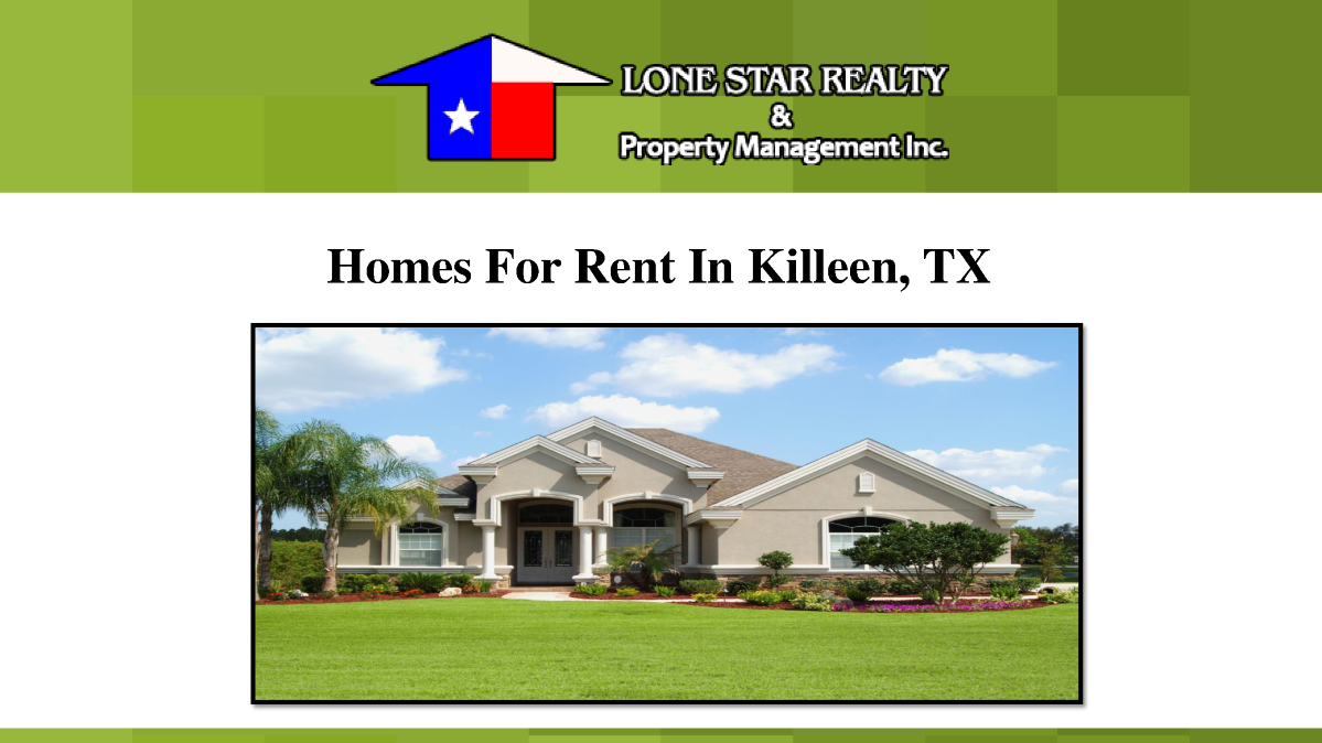 Homes For Rent In Killeen Tx Authorstream