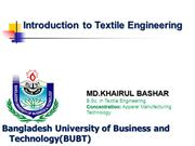 Introduction to Textile Engineering