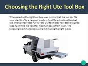 Choosing the Right Tool Boxes for Utes