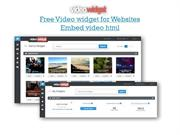 Video widget, Embed video html