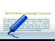 Best French Language Lessons