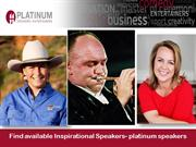Find available Inspirational Speakers- platinum speakers