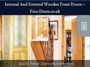 Internal And External Wooden Front Doors – Fine-Doors