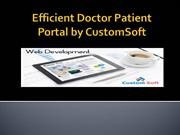 Efficient Doctor Patient Portal by CustomSoft