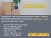 HOW TO STAY SAFE DURING RELOCATION