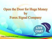Open the Door for Huge Money by Forex Signal Company
