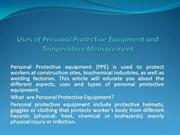 Uses of Personal Protective Equipment and Temperature Measurement