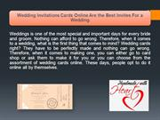 Wedding Invitations Cards Online Are the Best Invites For a Wedding