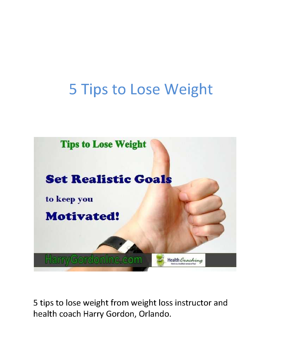 5 Tips to Lose Weight from Weight Loss Instructor Orlando ...