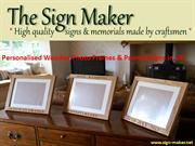 Personalised Wooden Photo Frames & Painted Signs in UK