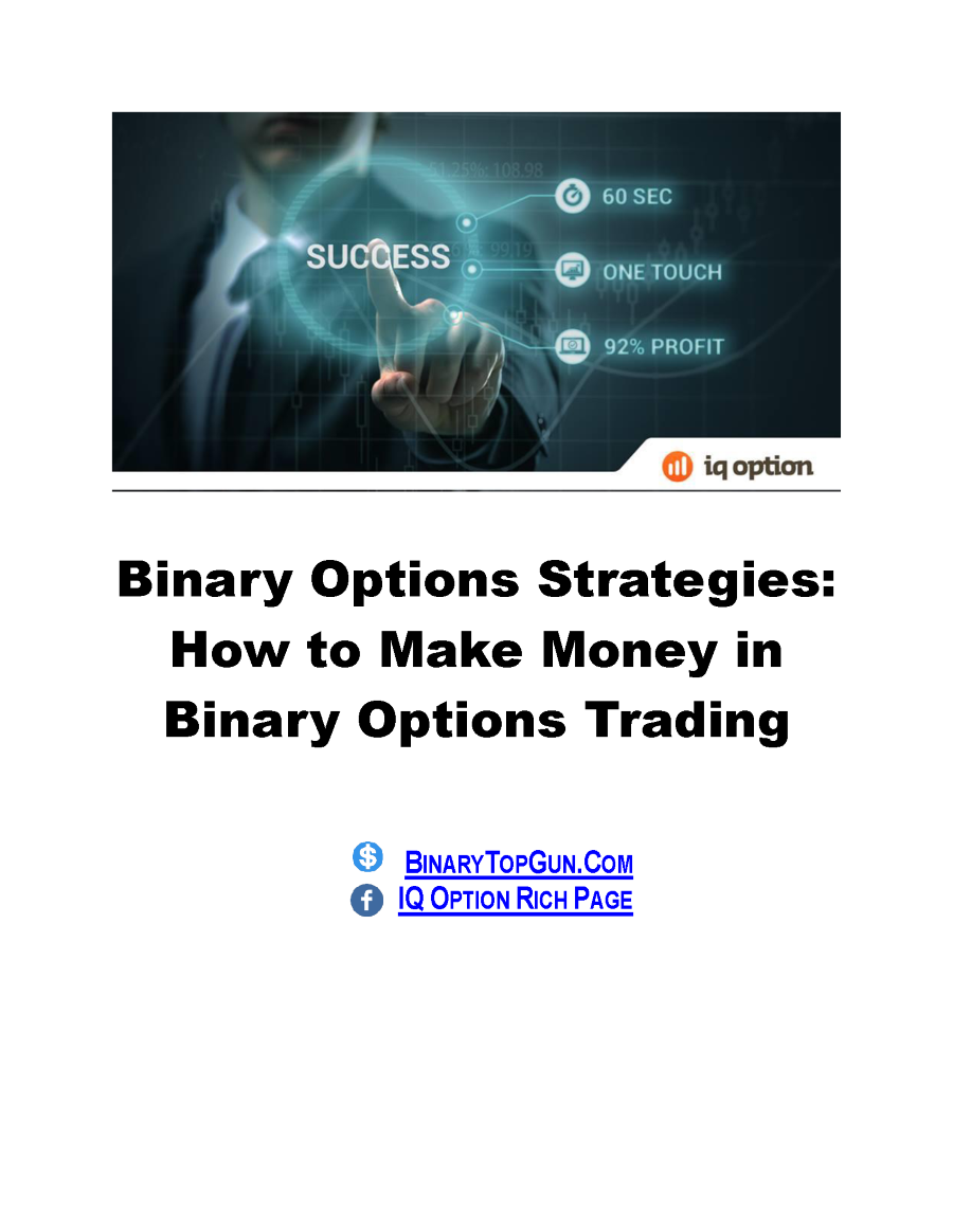 Binary option trading strategy pdf
